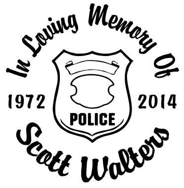 In loving memory of sheriff badge Decal Sticker