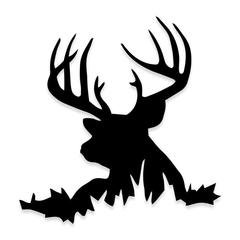 Buck in the Grass Deer Hunting Decal Sticker