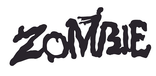 ZOMBIE WITH WALKER Decal Sticker