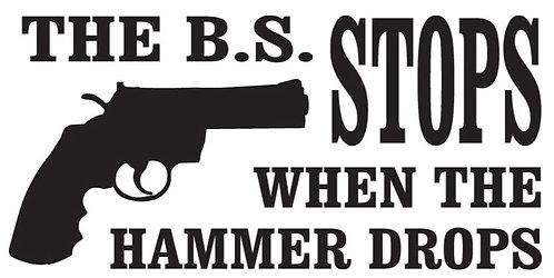 THE BS STOPS Gun Decal Sticker