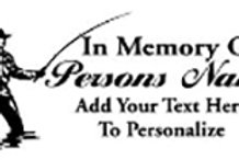 IN MEMORY OF fly fishing trout Decal Sticker