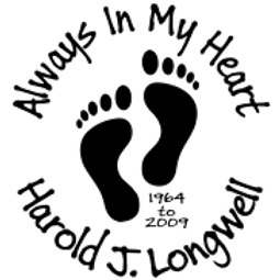 Always in my heart baby feet Decal Sticker