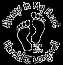 Always in my heart baby feet Decal Sticker