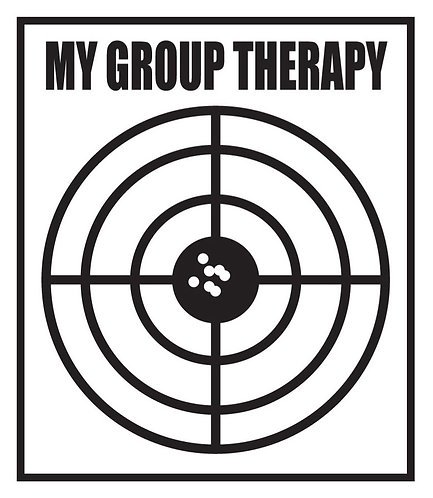 MY GROUP THERAPY Gun Decal Sticker