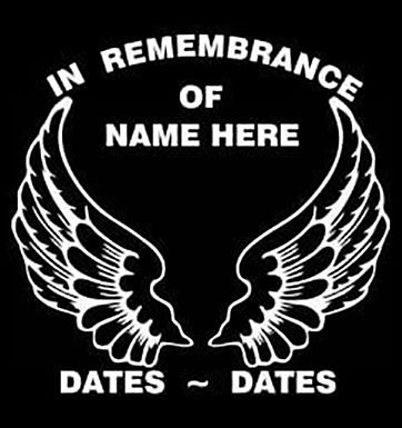 In remembrance of wings Decal Sticker