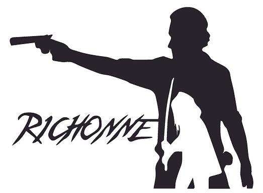 Richonne Walking Dead Zombie Decal Sticker