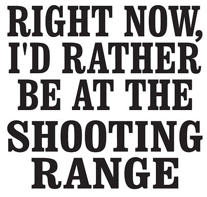 I'd rather be at the shooting range Gun Decal Sticker