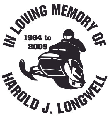 In loving memory of snowmobile head on Decal Sticker