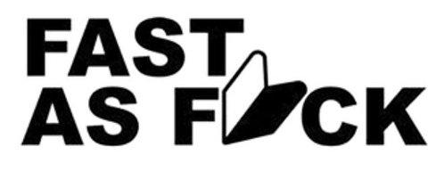 FAST AS FUCK JDM 2 Decal Sticker