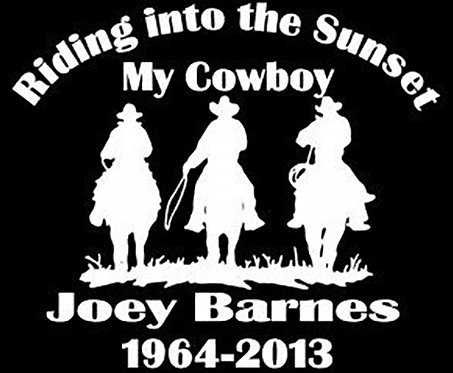 Riding into the sunset my cowboy Decal Sticker