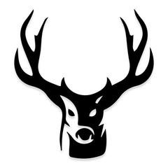 Head On Deer Hunting Decal Sticker