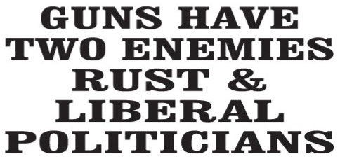 Guns have two enemies - Rust and liberal politicians decal