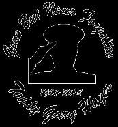 Gone but not forgotten salute Decal Sticker