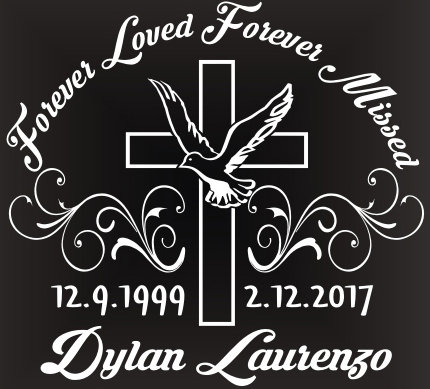 Forever loved forever missed cross Decal Sticker