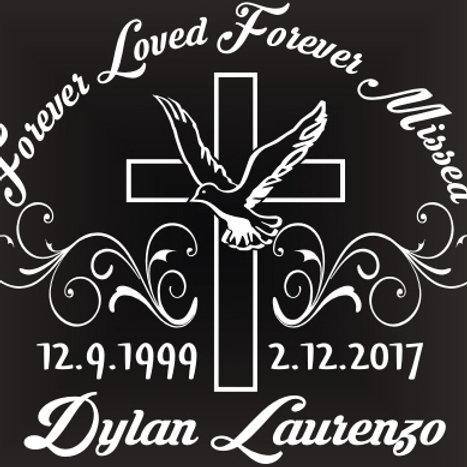 Forever loved forever missed cross Decal Sticker