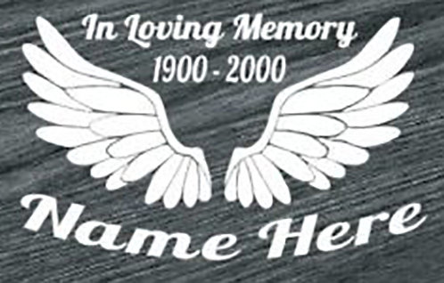 Huge wings in loving memory Decal Sticker