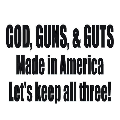 2nd Amendment - God Guns Guts - Keep All Three!