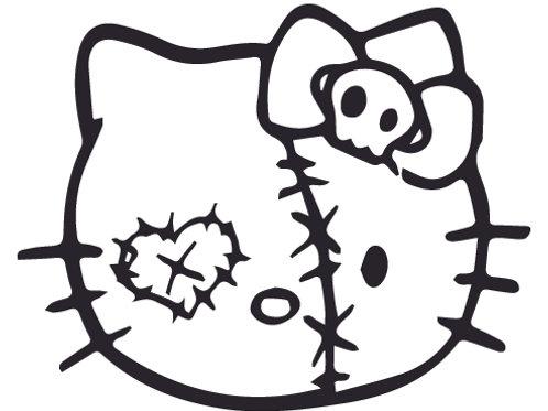 Hello Kitty Zombie 2 Decal Sticker