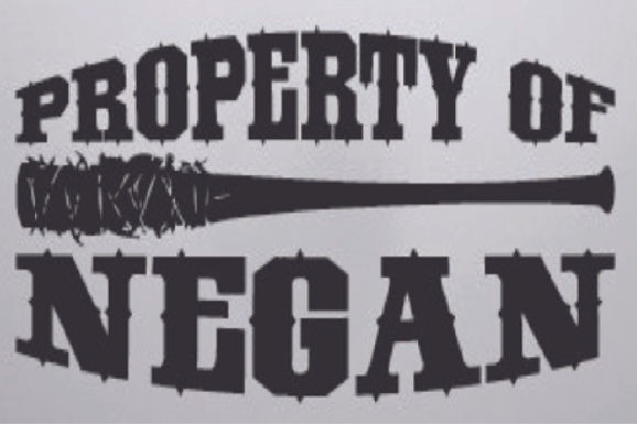 Property of NEGAN & LUCILLE - Walking Dead Decal Sticker