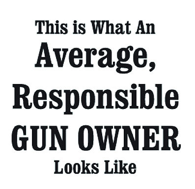 This is what an average, responsible gun owner looks like sticker