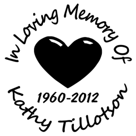 Heart in loving memory of circle Decal Sticker