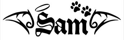 In memory of doggie Decal Sticker