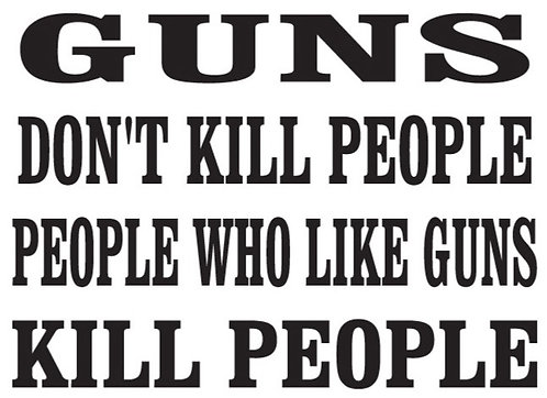 GUNS don't kill people Gun Decal Sticker