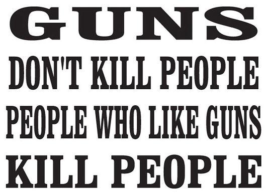 GUNS don't kill people Gun Decal Sticker
