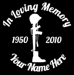 Fallen soldier army in loving memory of Decal Sticker