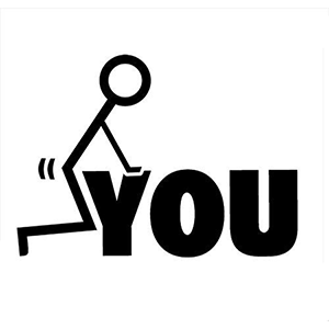 ANIMATED Fuck You Fuck It Stick Man Decal Sticker