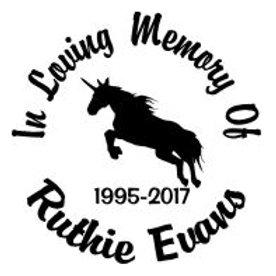 In loving memory of unicorn Decal Sticker