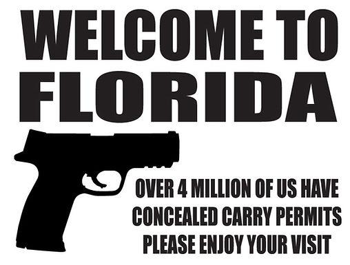 WELCOME TO FLORIDA Gun Decal Sticker