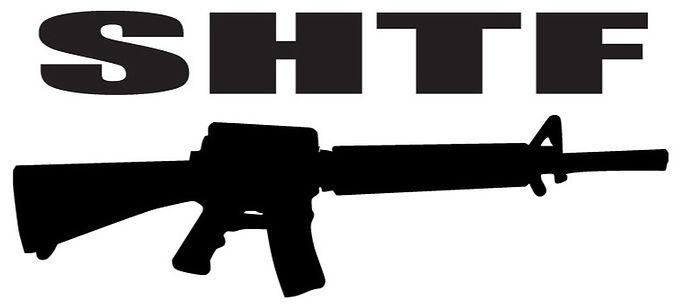 SHTF Gun Decal Sticker