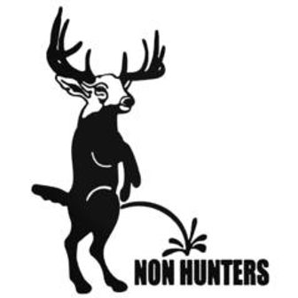 Piss on NON HUNTERS Hunting Decal Sticker