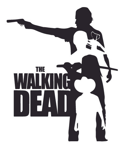 Walking Dead Carl Daryl Rick Michonne Decal Sticker