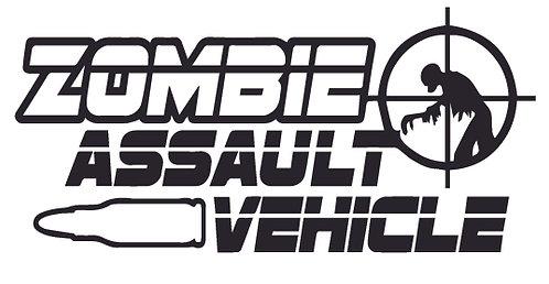 ZOMBIE Assaut Vehicle Decal Sticker