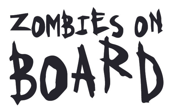ZOMBIES ON BOARD Decal Sticker