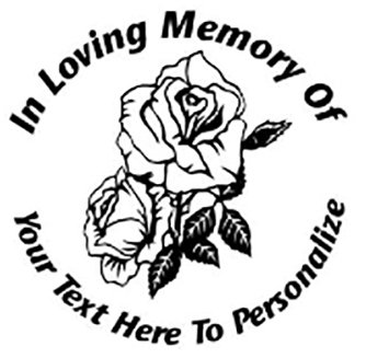 In Loving memory of rose roses mom Decal Sticker