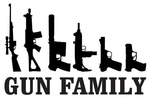Gun Family Sticker