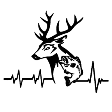 HEARTBEAT of Hunting and Fishing Lover Decal Sticker