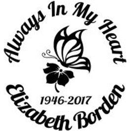 Always in my heart butterfly 7 Decal Sticker