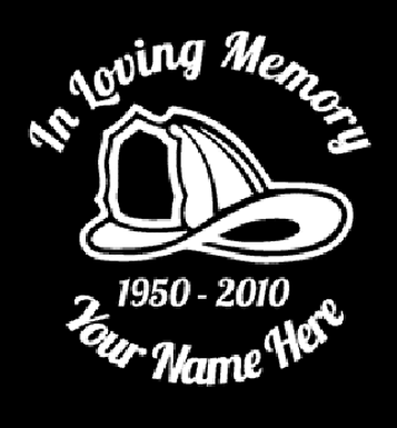 In loving memory of fireman hat Decal Sticker