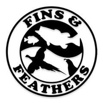 FINS and FEATHERS YING YANG Decal Sticker
