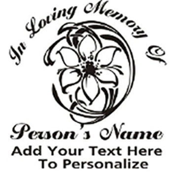 In Loving Memory of beautiful flower Decal Sticker