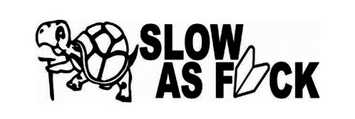 SLOW as Fuck Turtle Decal Sticker