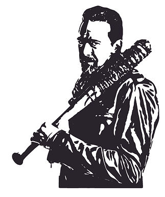 LUCILLE and Negan Walking Dead Decal Sticker