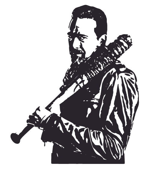 NEGAN & LUCILLE - Walking Dead Decal Sticker