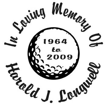 In loving memory of golf ball Decal Sticker
