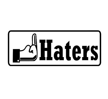 FUCK Haters MIDDLE FINGER 3 Decal Sticker