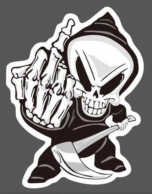 SKULLY FUCK YOU Decal Sticker